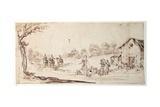 Rural Scene Giclee Print by Johann Wilhelm Baur