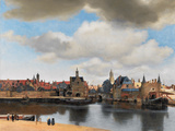 View of Delft, C.1660-61 Giclee-trykk av Jan Vermeer