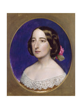 Mrs Coventry Patmore, Pre 1856 Giclee Print by John Brett