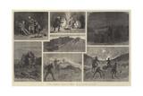 The Afghan War, a Raid on a Cave Village Giclee Print by John Charles Dollman