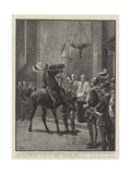 The Horse-Race, or Palio, at Sienna, the Benediction of a Competitor in Church Giclee Print by John Charlton