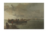 A Barge with a Wounded Soldier Giclee Print by John Crome