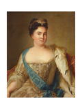 Portrait of Empress Catherine I (1684-1727) Giclee Print by Jean-Marc Nattier