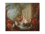 Ladies Bathing, 1721 Giclee Print by Jean-Baptiste Joseph Pater