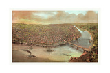 Bird's Eye View of Saint Louis Giclee Print by John Bachmann