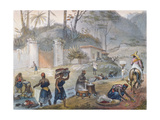 Black Washerwomen by a River, from 'Voyage Pittoresque Et Historique Au Bresil', 1839 Giclee Print by Jean Baptiste Debret