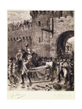 The Death of Bonchamps in 1793 Giclee Print by Jean-jacques Scherrer