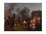 Pulling Down the Statue of King George III, C.1859 Giclee Print by Johannes Adam Simon Oertel