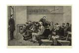 London Sketches, Waiting to See the Doctor Giclee Print by John Charles Dollman