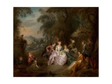 Repose in a Park Giclee Print by Jean-Baptiste Joseph Pater