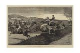 A Military Steeplechase, an Awkward Corner Giclee Print by John Charles Dollman