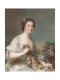 Portrait of a Lady, 1738 Giclee Print by Jean-Marc Nattier