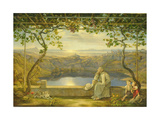 A Monk on a Terrace at the Nemi Lake, 1818 Giclee Print by Joachim Faber