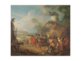 Marching Troops Giclee Print by Jean-Baptiste Joseph Pater