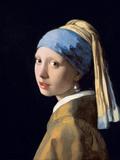 Jan Vermeer - Girl with a Pearl Earring, C.1665-6 Digitálně vytištěná reprodukce