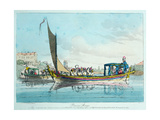 Pleasure Barges, 1803 Giclee Print by John Augustus Atkinson