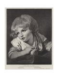Girl with an Apple Giclee Print by Jean Baptiste Greuze