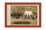 Engineers Corps Camp and Visitors Giclee Print by John C. H. Grabill