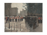 The Grenadier Guards, Tower of London, 1880 Giclee Print by Jean-Baptiste Edouard Detaille