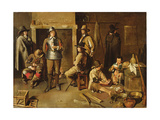 Soldiers at Rest in an Inn Giclee Print by Jean Michelin