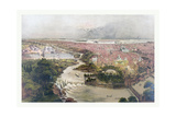 Birds Eye View of Philadelphia and Centennial Grounds, Circa 1875, USA, America Giclee Print by John Bachmann