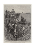 A Jackal Hunt in India, a Strange Sportsman Giclee Print by John Charlton