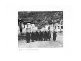 Lamas in Sera Monastery, Lhasa, Tibet, 1903-04 Giclee Print by John Claude White