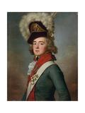 Portrait of Brigadier Valerian Aleksandrovich Zubov Giclee Print by Jean Louis Voille