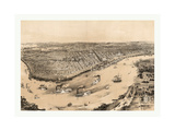 Birds' Eye View of New Orleans Drawn from Nature on Stone, Circa 1851, USA, America Giclee Print by John Bachmann