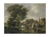 A River Scene, Possibly at Norwich, C.1817 Giclee Print by John Crome
