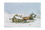 Lapland Sledge, 1803 Giclee Print by John Augustus Atkinson