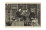A Vaccination Station in Connaught, Ireland Giclee Print by John Charles Dollman
