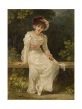Lady Seated in a Garden Giclee Print by Jerry Barrett