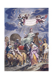 An Allegorical Plate with Title Giclee Print by Joan Blaeu