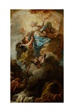 Study for the Assumption of the Virgin, C.1760 Giclee Print by Jean Baptiste Deshays De Colleville