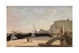 The Beach, Etretat, 1872 Giclee Print by Jean Baptiste Camille Corot