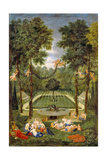 View of the Marais with Venus and Echo, 1688 Giclee Print by Jean the Younger Cotelle