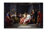 Virgil Reading Sixth Canto of Aeneid, 1818-1821 Giclee Print by Jean-Baptiste Joseph Wicar