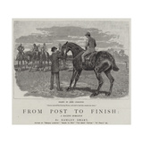 From Post to Finish, a Racing Romance Giclee Print by John Charlton