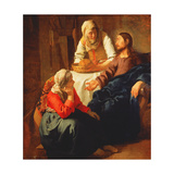 Christ in the House of Martha and Mary, C.1654-56 Giclee Print by Jan Vermeer