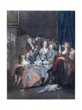 The Evening Meal Giclee Print by Jean-Baptiste Huet