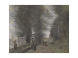 Ville D'Avray, Woodland Path Bordering the Pond, 1872 Giclee Print by Jean Baptiste Camille Corot