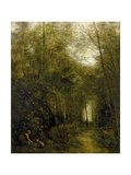 Montfermeuil, the Brook in the Wood, 1867 Giclee Print by Jean Baptiste Camille Corot