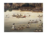 Boat Races and Goose Game on Ill River in Strasbourg, 1665 Giclee Print by Johann Jakob Walther
