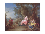 The Swing Giclee Print by Jean-Baptiste Joseph Pater