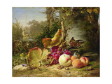 Fruit and Sparrows, 1863 Giclee Print by Johann Wilhelm Preyer