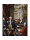 Monsieur Carre De Cande with His Three Sons Giclee Print by Jean Valade