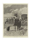 In Search of a New Home, a Scene in the Far West Giclee Print by John Charlton