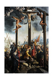 Triptych of the Crucifixion, 1535, by Jan Van Scorel (1495-1562). Netherlands Giclee Print by Jan van Scorel