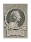 Portrait of Jean Philippe Rameau (1683-1764) Engraved by Auguste De Saint-Aubin Giclee Print by Jean-jacques Caffieri